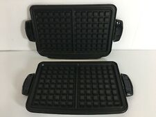 New George Foreman REPLACEMENT PLATES Waffle G5 Grill Upper Lower TSK2610 1 & 2