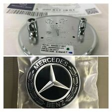 Mercedes-Benz Black Wreath Flat Bonnet Badge Emblem A0008171801 NEW UK