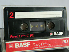 BASF Ferro Extra I 90 Audio-Cassette 1988-1989 UNBESCHRIFTET  Audio-Cassette