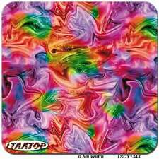 """HYDROGRAPHIC DIPPING Colorful Ink HYDRO DIP WATER TRANSFER FILM 38.5"""" x 19"""""""