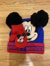 Mickey Mouse Beanie With Gloves