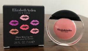 Elizabeth Arden Sheer Kiss Lip Oil .24 oz. Choose Your Shade New In Box