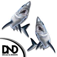 """Mako Shark - Fish Decal Fishing Hunting Bumper Sticker """"5in SET"""" F-0450 D&"""
