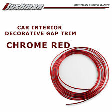5 Meters Chrome Red Moulding Gap Trim For Car Console Door Edge Garnish Line DIY