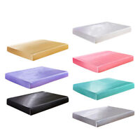 Fitted Bed Sheet Twin Full Queen King Size Satin Silk Bedding Mattress Cover
