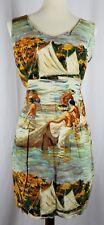RARE Jams World True Hawaiian Hukilau Art-to-wear Sheath Sun Dress Sz XL