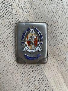 Vintage Hallmarked Silver Matchbook Cover Masonic Lodge Ladies Festival 1934 Sou