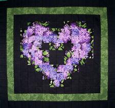 PURPLE LILACS WATERCOLOR Precut Quilt Top Kit, 100% cotton Prewashed Handmade118