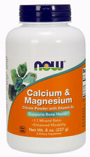 Calcium & Magnesium Citrate Powder with Vitamin D3 8 oz, Now Foods