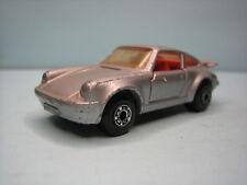 Diecast Matchbox Superfast Porsche Turbo 1978 Silver Grey No. 3 Good Condition