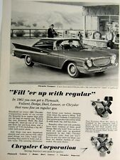 1961 Chrysler Newport Fill Er Up-Original Print Ad 8.5 x 11""
