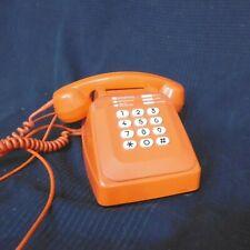 telephone orange vintage ancien socotel 1970 1980 70 80