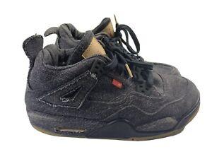 Nike Air Jordan 4 Retro Levi's Black AQ9103 001 Size 6.5Y