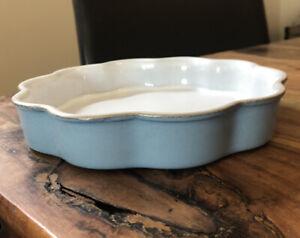 Denby Colonial Blue Small Flan Dish