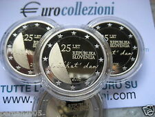 SLOVENIA 2016 2 EURO FONDO SPECCHIO PROOF PP BE 25° INDIPENDENZA DAL 20/06/2016