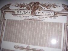 PERGAMENA DIVINA COMMEDIA 1888 DANTE TRASCRITTO MICRO CALLIGRAFICO COSSOVEL