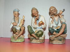 3 National Potteries Co Japan Napco Street Vendors Old World Figurines C5463