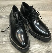 Cinzia Araia Black Leather Loafer Lace-Up Size EU 39
