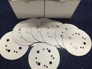 """5 & 8 Hole 5"""" hook & loop sandpaper, various grits, box of 100, New, Great!"""