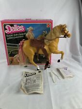 Vintage Mattel Barbie Dallas Horse Golden Palomino W/ Saddle W/ Box 3312