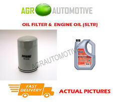 PETROL OIL FILTER + FS 5W40 ENGINE OIL FOR ROVER 400 TOURER 1.8 145BHP 1996-99