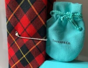 Tiffany & Co Tie Clip For Men Sterling Silver W/ White Pearl  PERFECT COND.+++++
