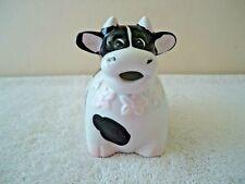 "Vintage Ceramic Black & White Fat Cow Creamer "" Beautiful Collectible Item """