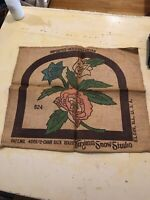 Primitive Rug Hooking Pattern Virginia Snow Studio Chair Back No 4009 18x 20