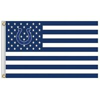 Indianapolis Colts 3x5 Foot American Flag Banner New