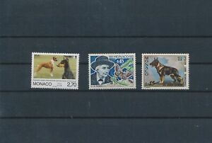LO60420 Monaco pets animals dogs fine lot MNH