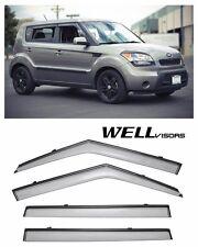 For 10-13 Kia Soul WellVisors Side Window Visors W/ Black Trim