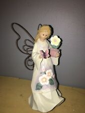 Mk Nwt Roman Angel Accents Angel with Sunflower & Butterfly 69115