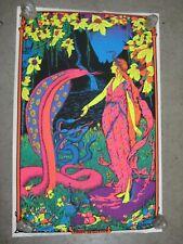Cobra Princess 1971 black light poster vintage psychedelic C1990