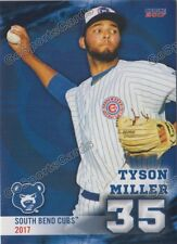 2017 South Bend Cubs Tyson Miller RC Rookie Chicago