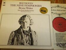 CBS 77511 Beethoven The Nine Symphonies / Walter 5 LP box