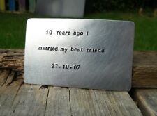 10 years Ago I Married My BEST FRIEND wedding anniversary CARD WALLET INSERT Tin