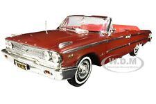 1963 FORD GALAXIE 500 XL OPEN CONVERTIBLE MET. BROWN 1/18 DIECAST SUNSTAR 1454