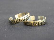 Adjustable Tibetan Copper Carved Brass Mantra OM MANI PADME HUM Amulet Ring