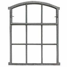 Fenster zum Öffnen grau Stallfenster Eisenfenster Eisen 71cm Antik-Stil (b2)