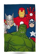 Marvel Avengers Mission Fleece Blanket Kids Boys 100cm X 150cm