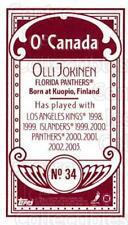2003-04 Topps C55 Minis O Canada Red #34 Olli Jokinen