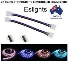 2X 5 PIN RGBW LED STRIP LIGHT TO CONTROLLER CONNECTOR WIRE CABLE 10MM 3528 5050