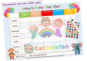 Potty Toilet Training Reward Chart - Kids Boys Girls Sticker Star Reusable CoCo