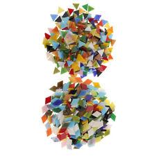 600pcs Triangle Rhombus Glass Pieces Mosaic Tiles Tessera for Art Craft 12mm