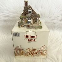 1990 Signed Lilliput Lane Dial Cottage w/ Deed and Box