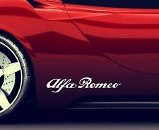 2x Seitenaufkleber Aufkleber Passt Sticker Alfa Romeo Tuning Emblem Logo ER2