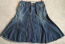 Lovely Ladies White Stuff Denim Frayed Look Skirt Size 10