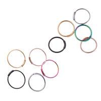 10Pcs Nose Lip Ear Septum Seamless Segment Clicker Ring Hoop Earring Sleeper