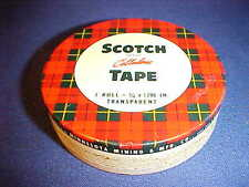 "Vintage Scotch Cellulose Tape 3/4"" x 1296"" Roll Minnesota Mining MMM Metal Tin"