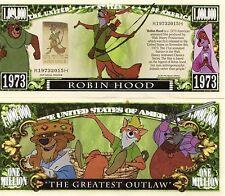 Robin Hood - Disney Cartoon Character Million Dollar Novelty Money